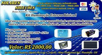 Kit Iluminação Externa Independente - Energia Solar